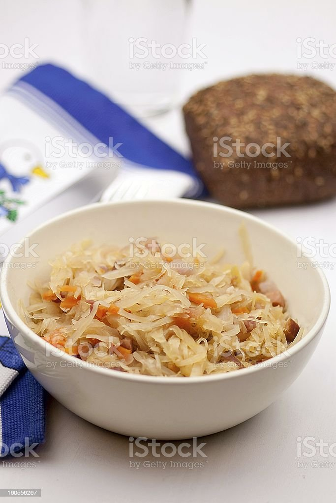cooked white cabbage royalty-free stock photo