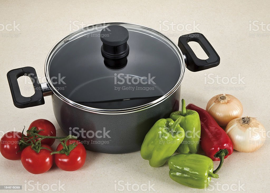 cooker and vegetables royalty-free stock photo