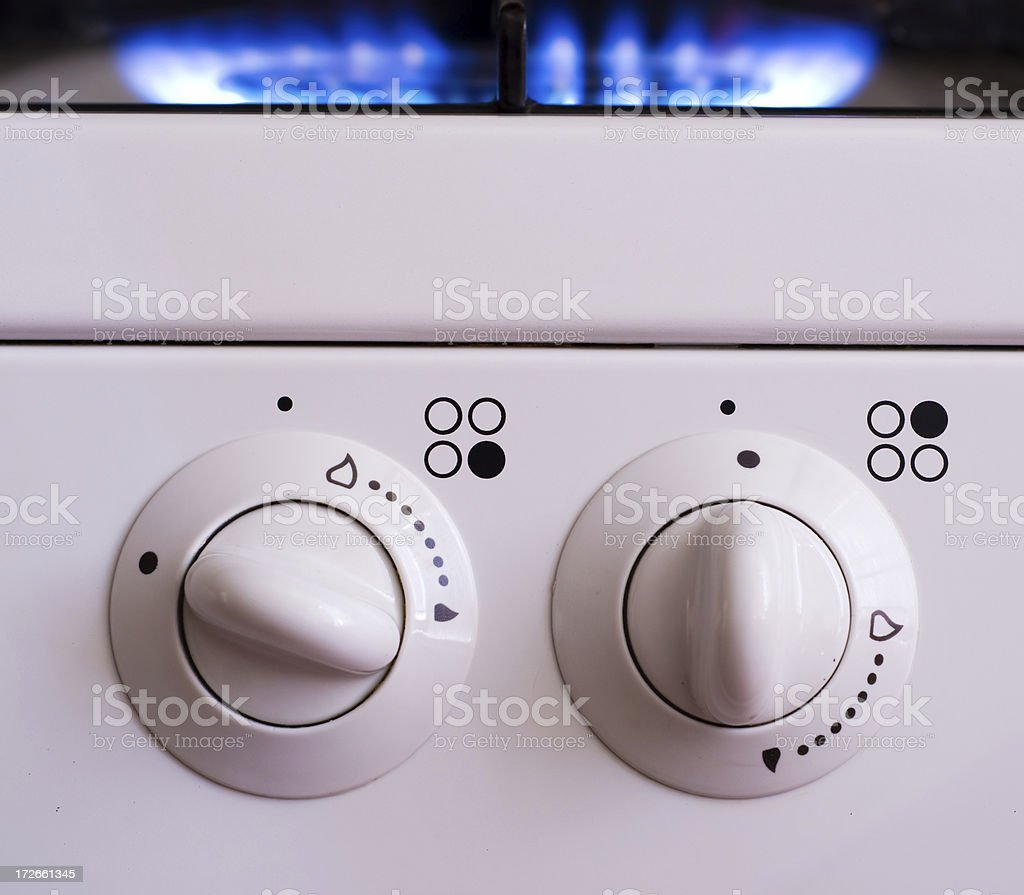 Cooker Controls stock photo