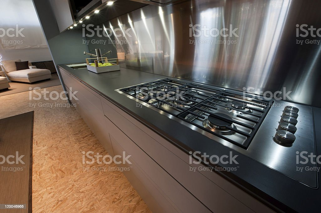 Cooker in modern kitchen stock photo