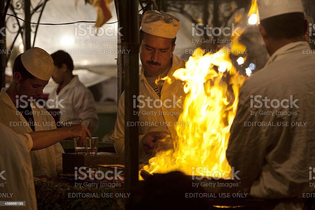 Cookers in Djemaa El Fna royalty-free stock photo