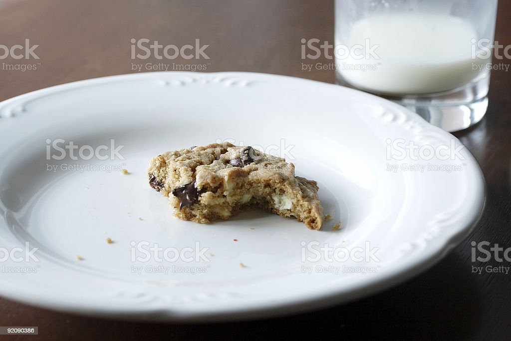 Cookie almost gone... royalty-free stock photo