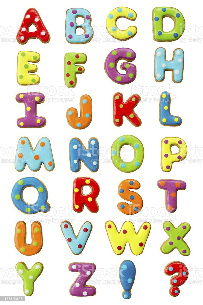 Cookie alphabet stock photo