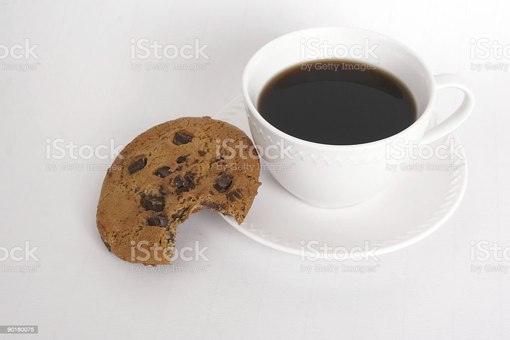 cookie and coffee royalty-free stock photo