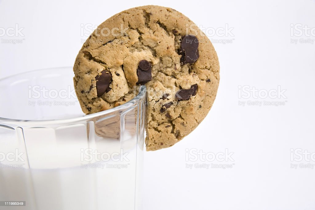 cookie and milk cocktail horizontal royalty-free stock photo