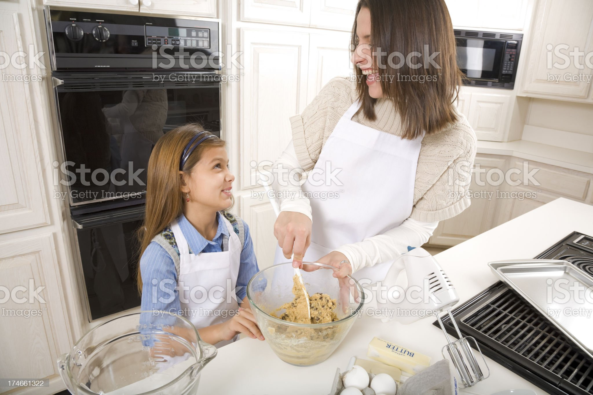 cookie baking fun royalty-free stock photo