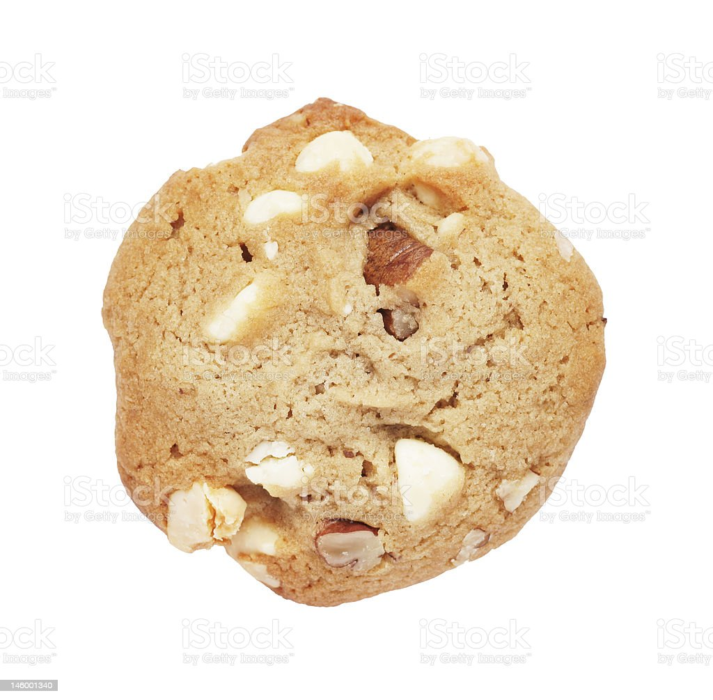 Cookie Biscuit With White Chocolate And Nuts stock photo