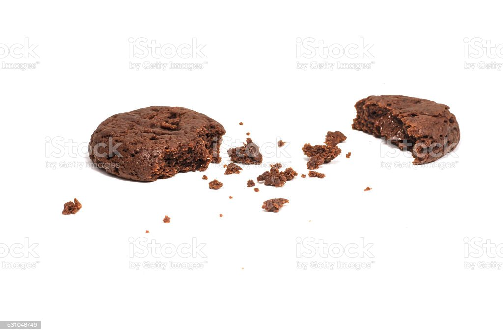 Cookie chocolate on white stock photo