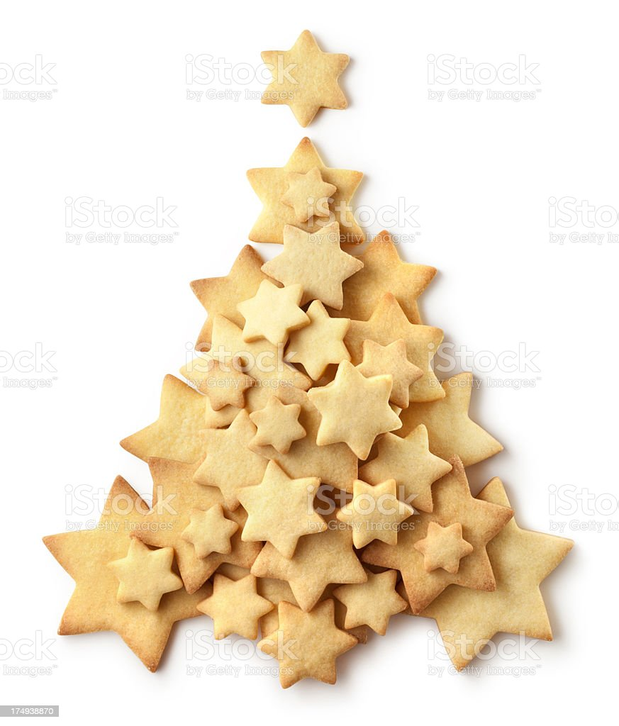 Cookie Christmas tree royalty-free stock photo