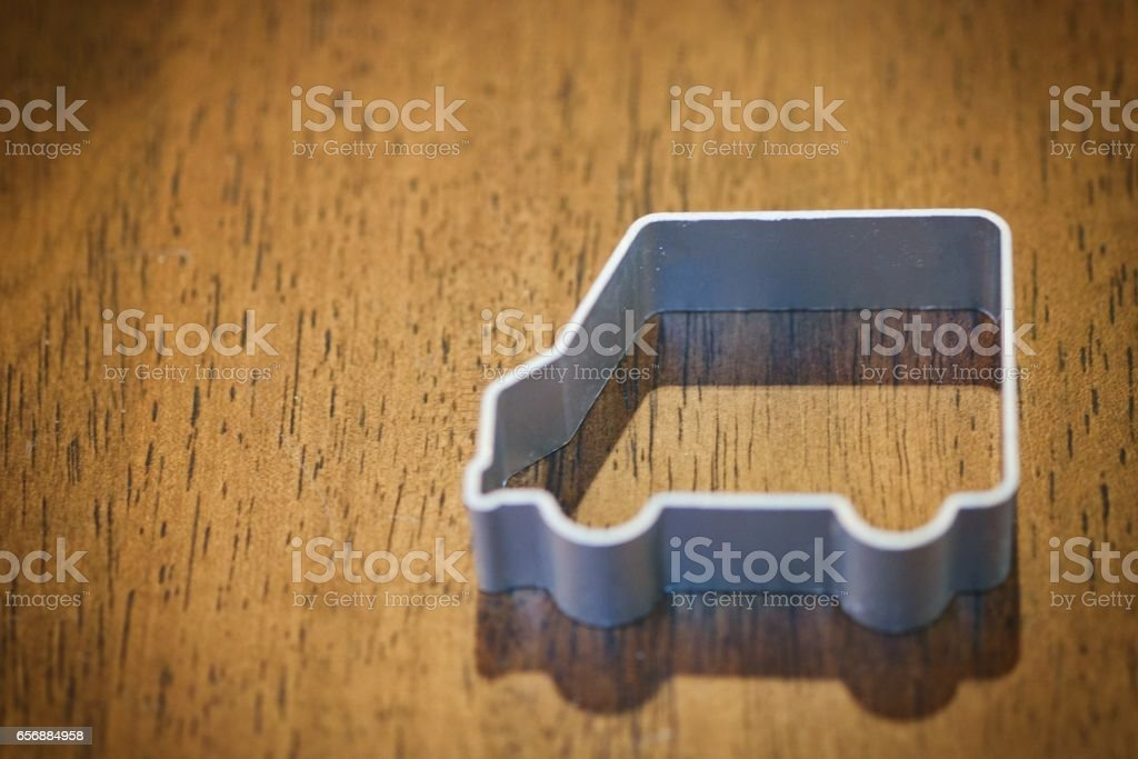 cookie cutter car stock photo