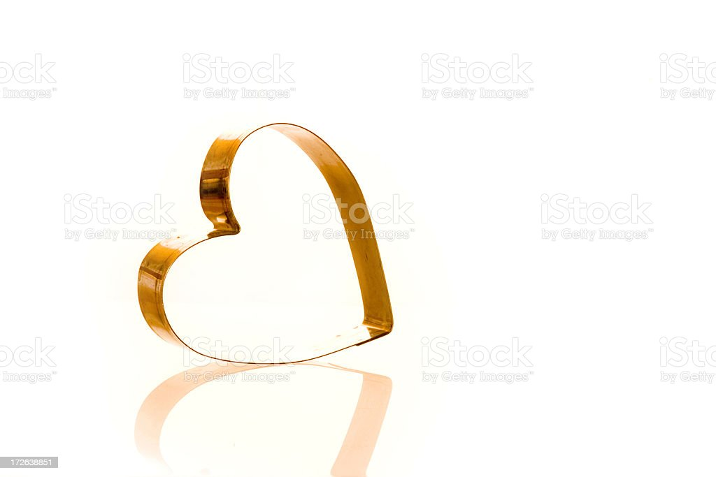 Cookie Cutter Heart royalty-free stock photo