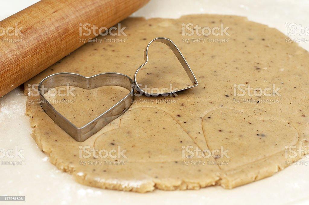 cookie cutter cœur photo libre de droits