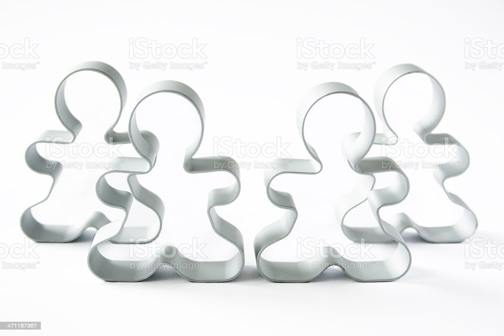 Cookie Cutter Team royalty-free stock photo