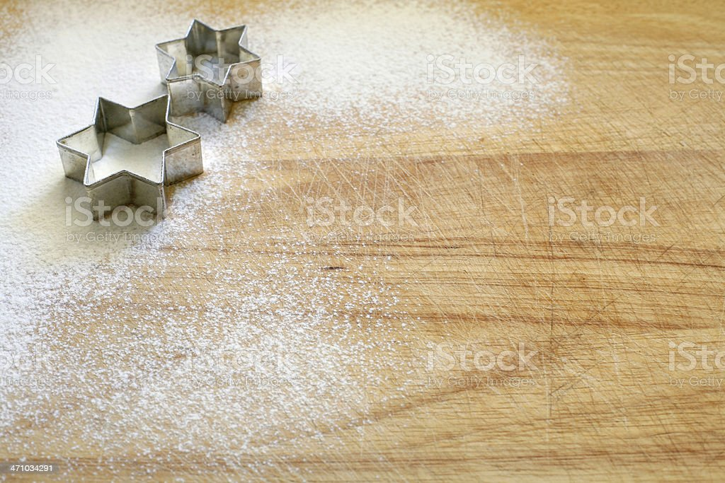 Cookie cutter_ two stars royalty-free stock photo
