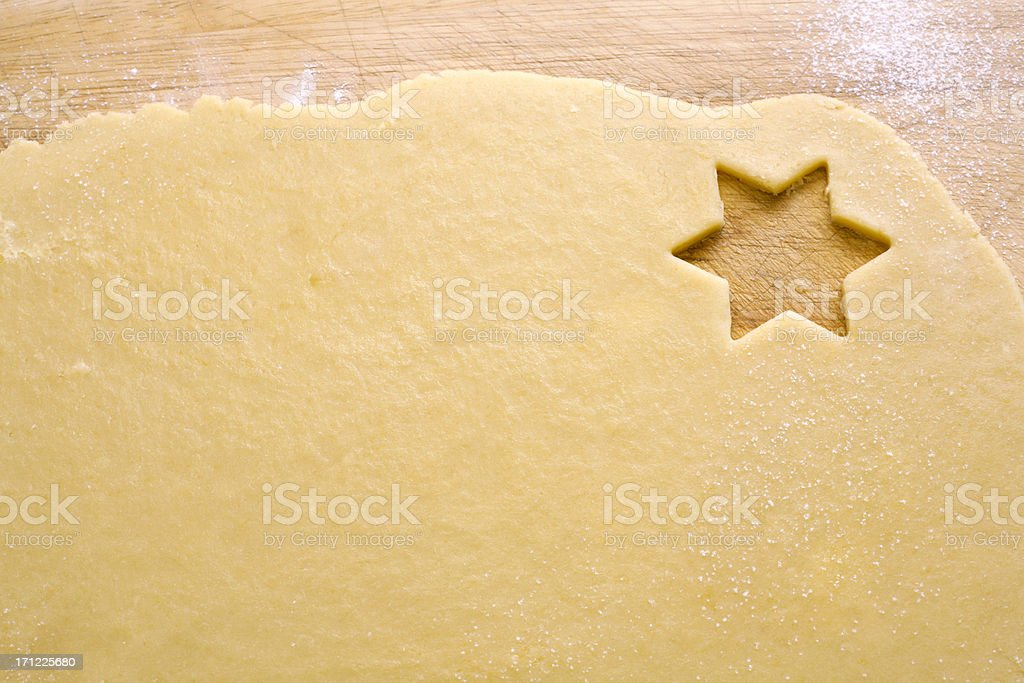 Cookie cutter_star stock photo