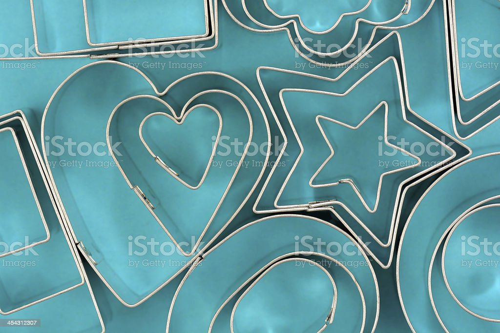 Cookie Cutters Background stock photo