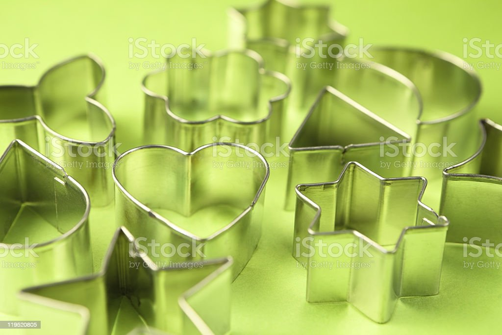 Cookie cutters stock photo