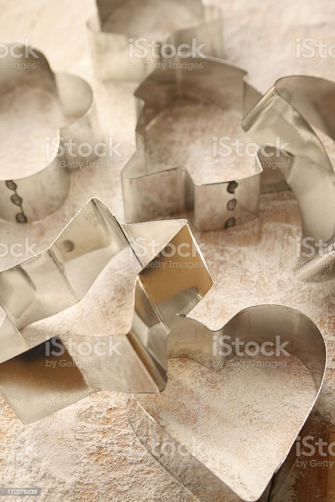 Cookie cutters royalty-free stock photo