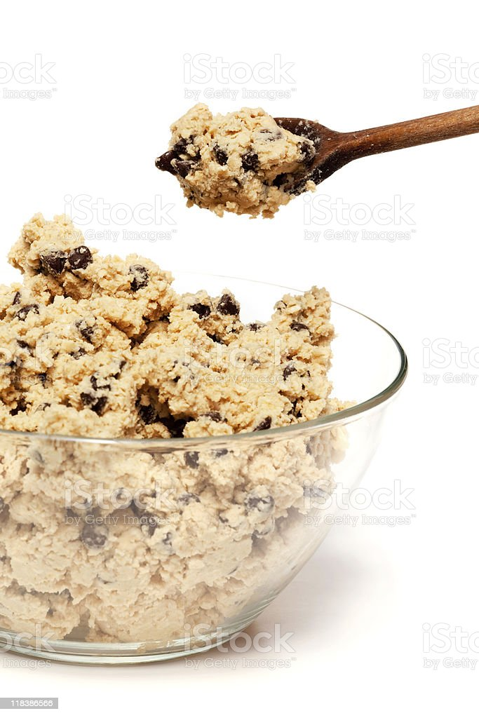 Cookie Dough Bowl royalty-free stock photo