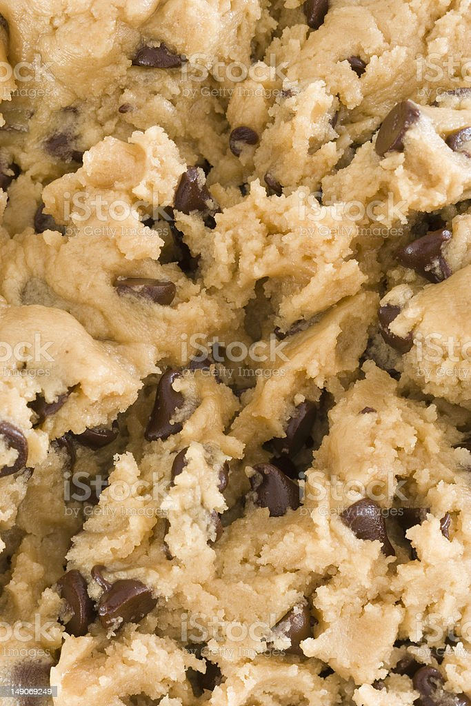 Cookie dough close-up royalty-free stock photo