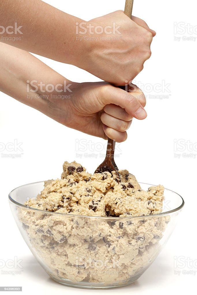 Cookie Dough Mix royalty-free stock photo