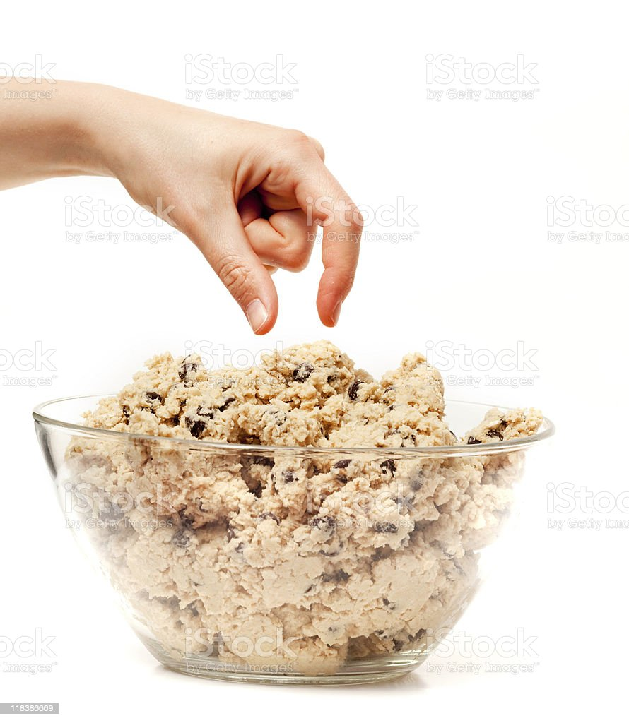 Cookie Dough Taste Test stock photo