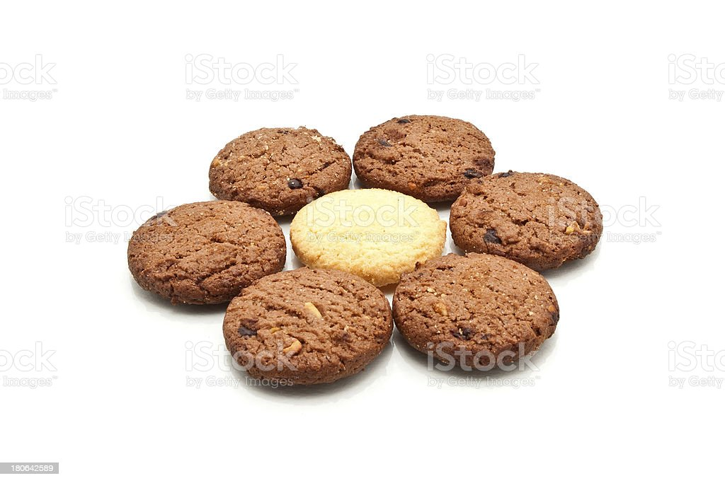 Cookie form in flower shape, isolated royalty-free stock photo