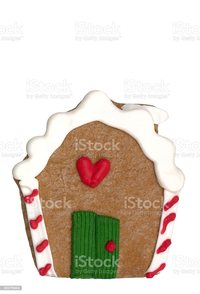 Cookie - Gingerbread House royalty-free stock photo