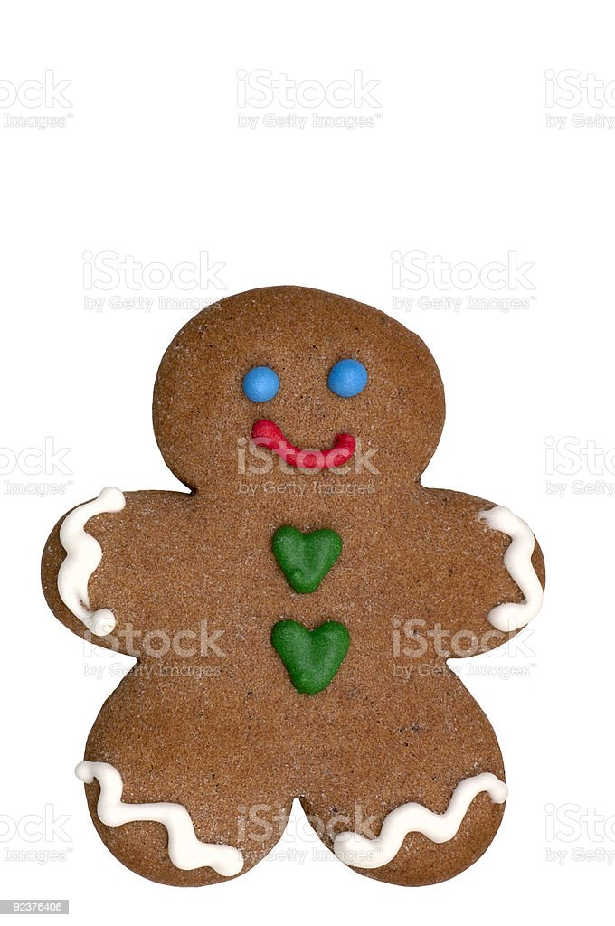 Cookie - Gingerbread Man royalty-free stock photo