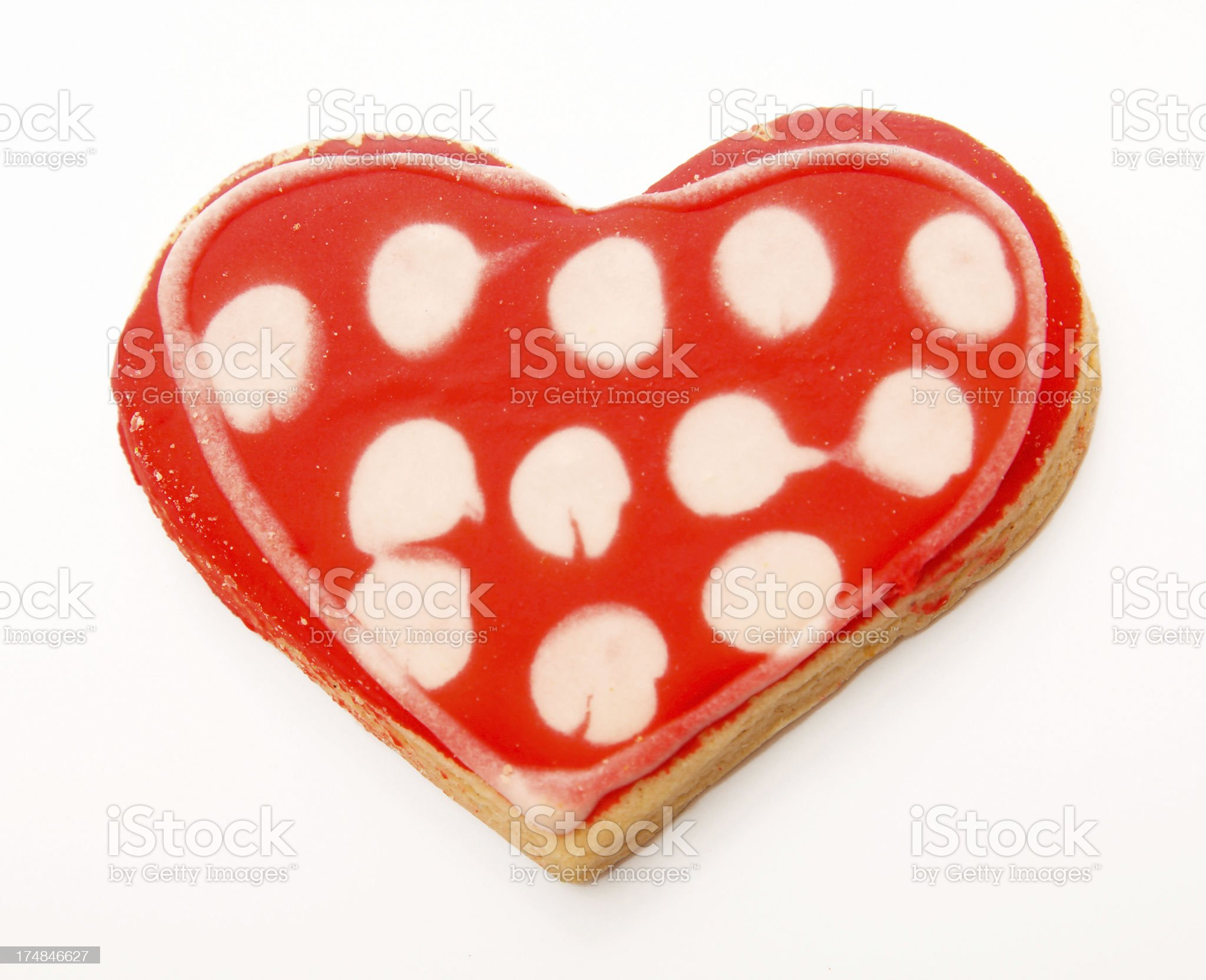 Cookie heart royalty-free stock photo