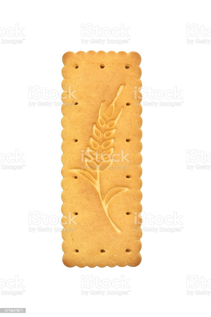 Cookie isolated on a white background royalty-free stock photo