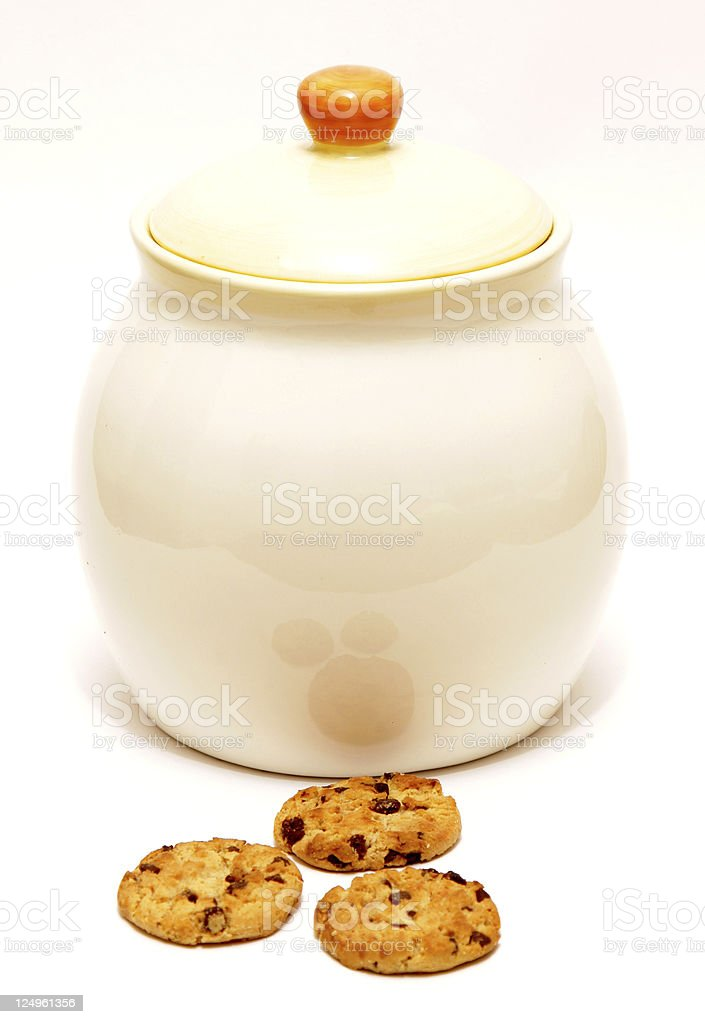 cookie jar and cookies royalty-free stock photo