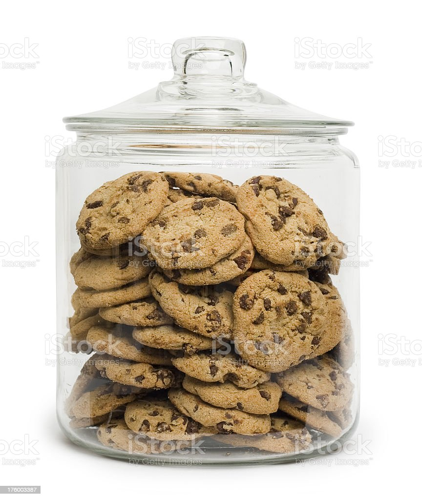 Cookie Jar with clipping path. royalty-free stock photo