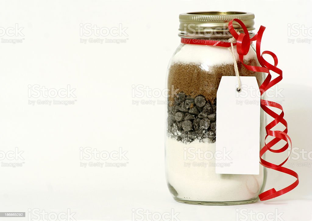 Cookie Mix in a Jar stock photo