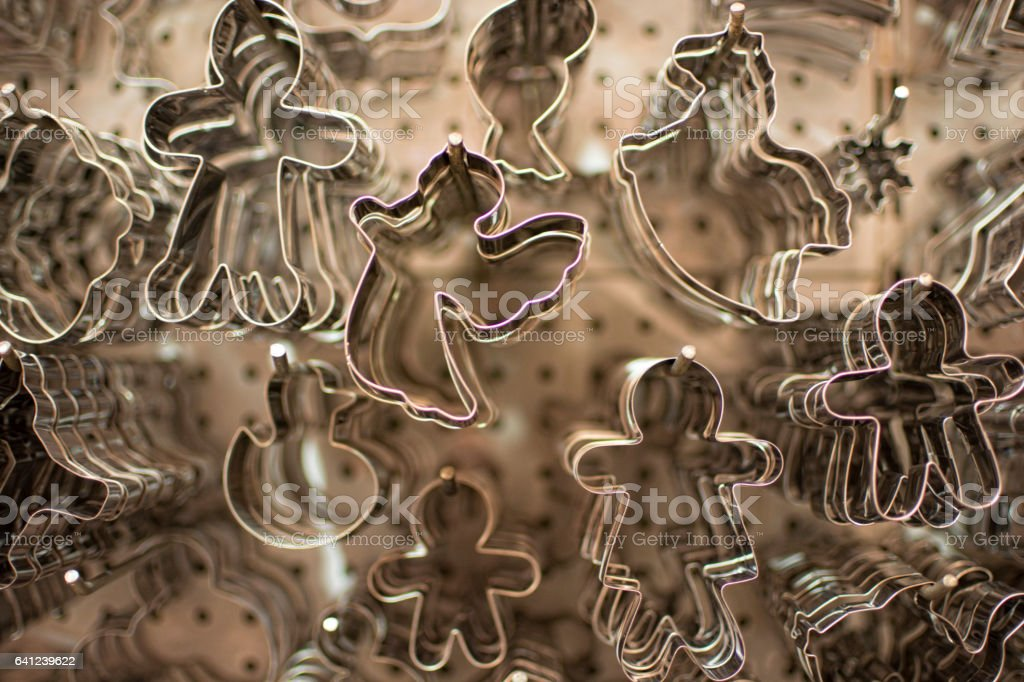 Cookie molds stock photo
