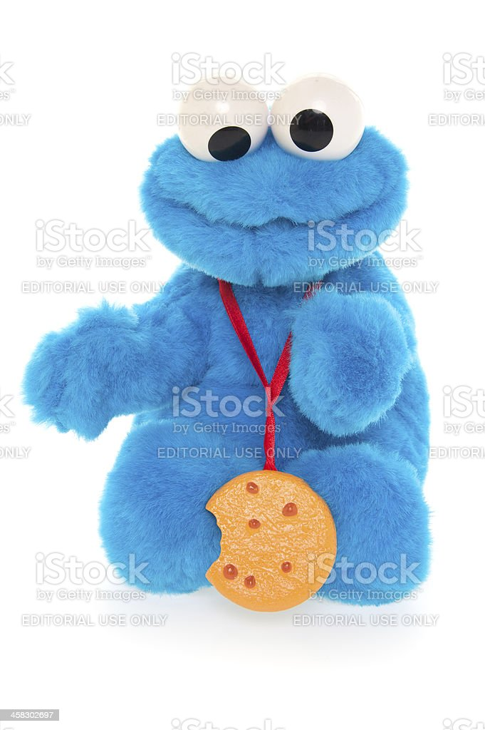 Cookie Monster royalty-free stock photo