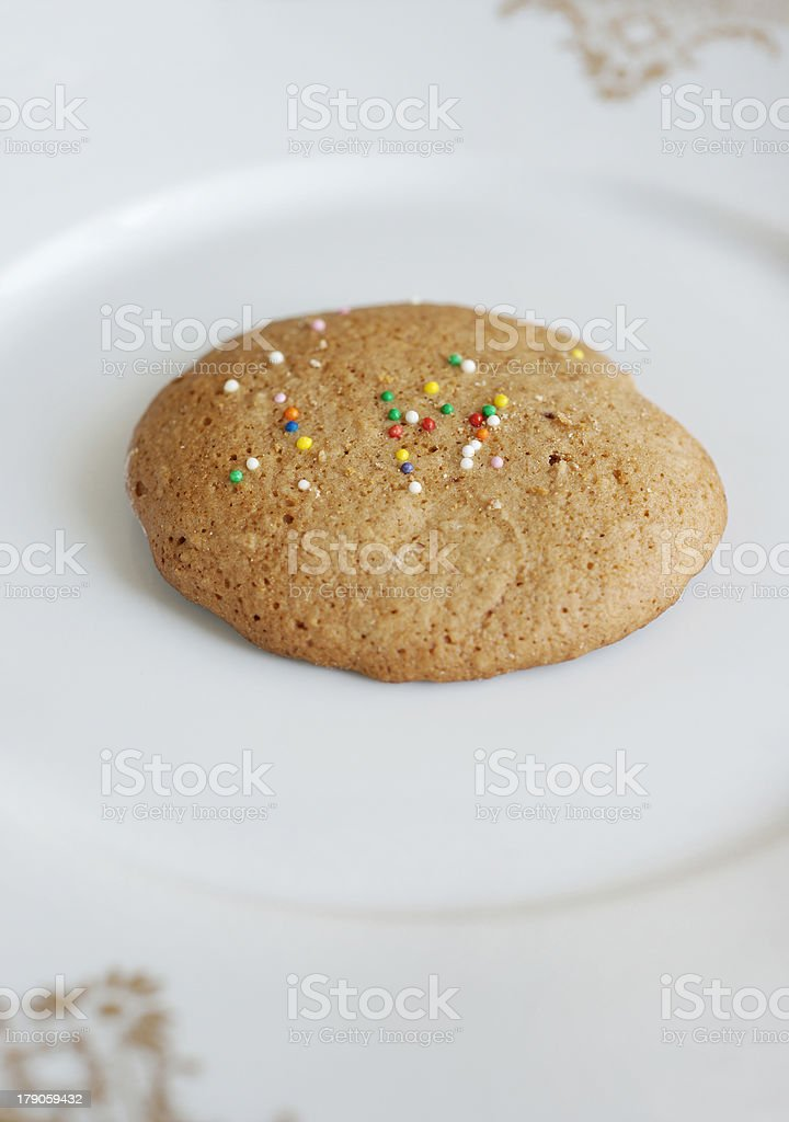 Cookie on the plate royalty-free stock photo