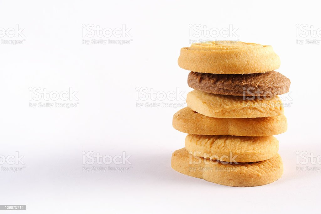 cookie piled royalty-free stock photo