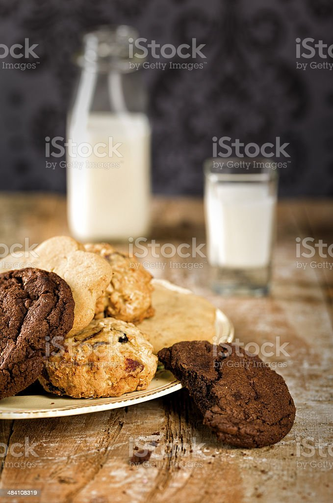 Cookie plate stock photo