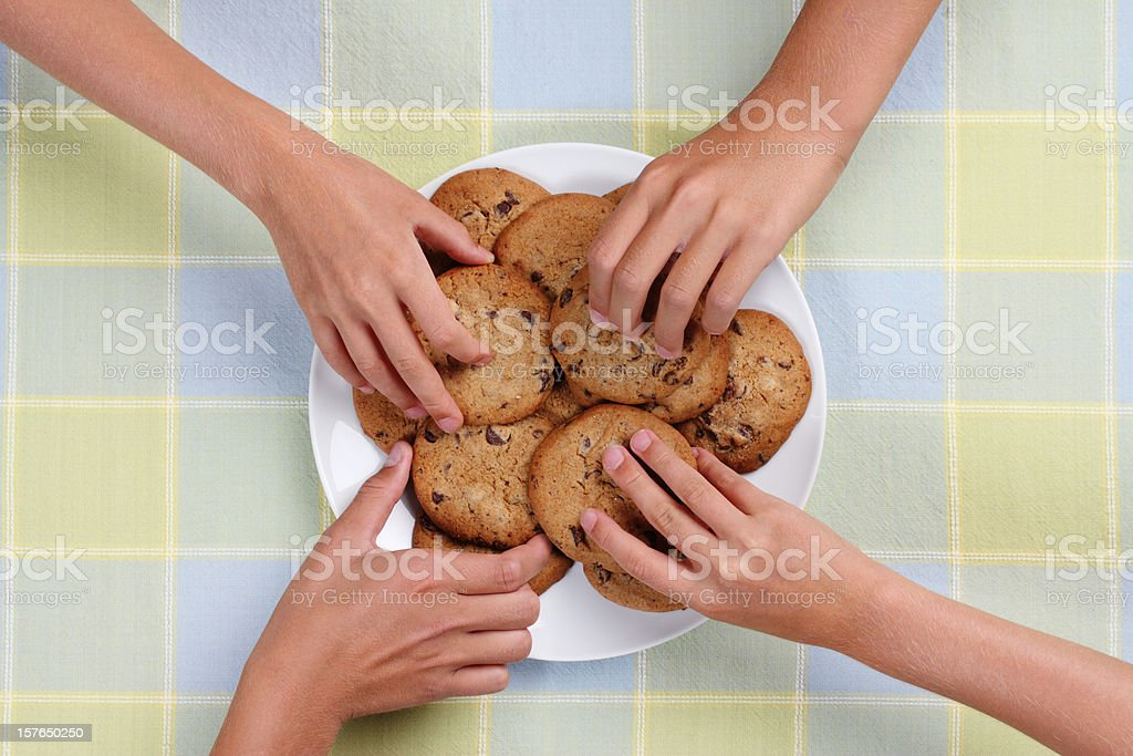 Cookie Snack Plate royalty-free stock photo