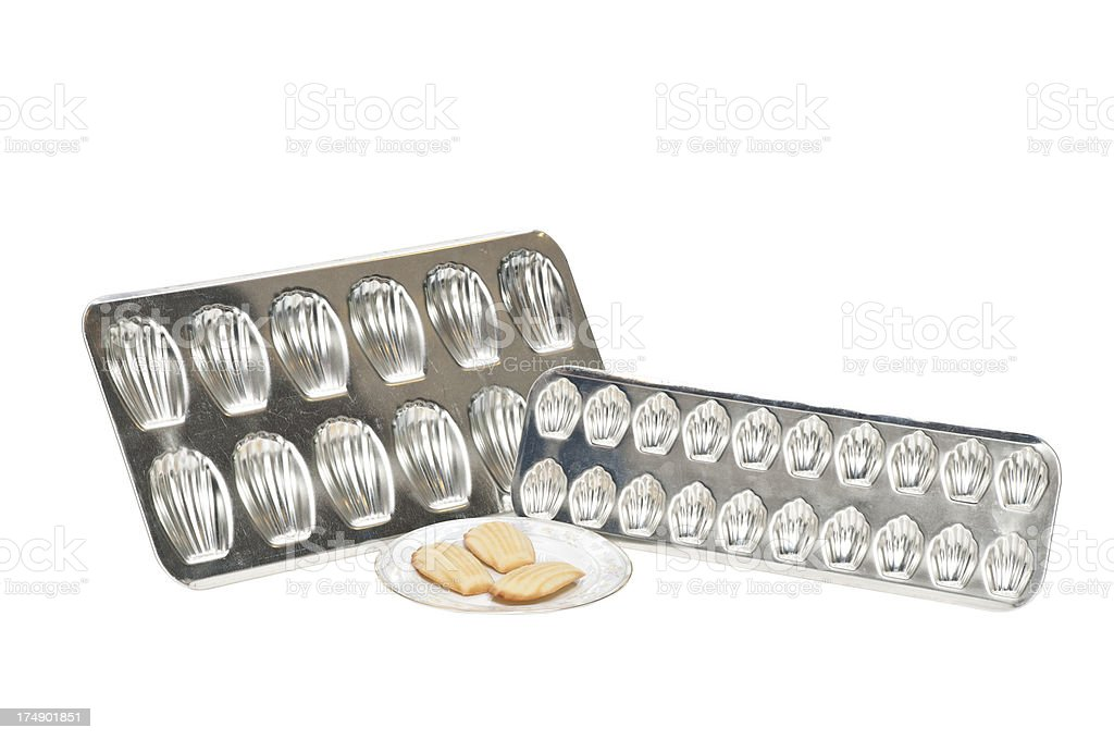 Cookie tray molds stock photo
