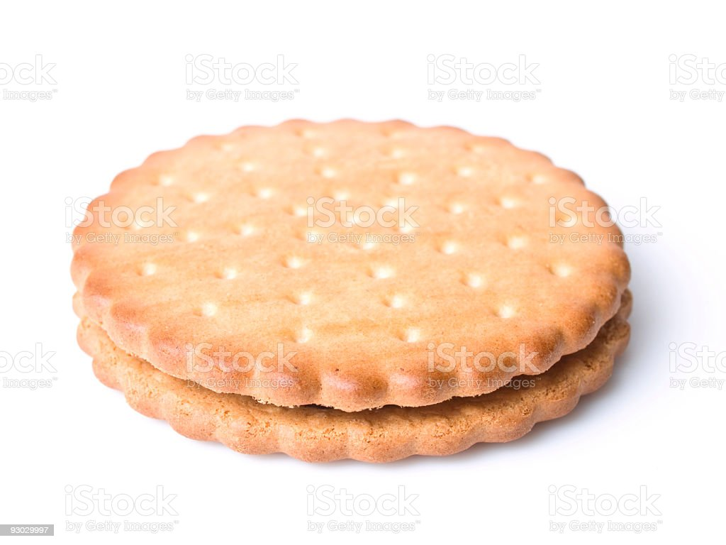 cookie w/ clipping path royalty-free stock photo