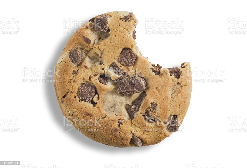 Cookie with Bite stock photo