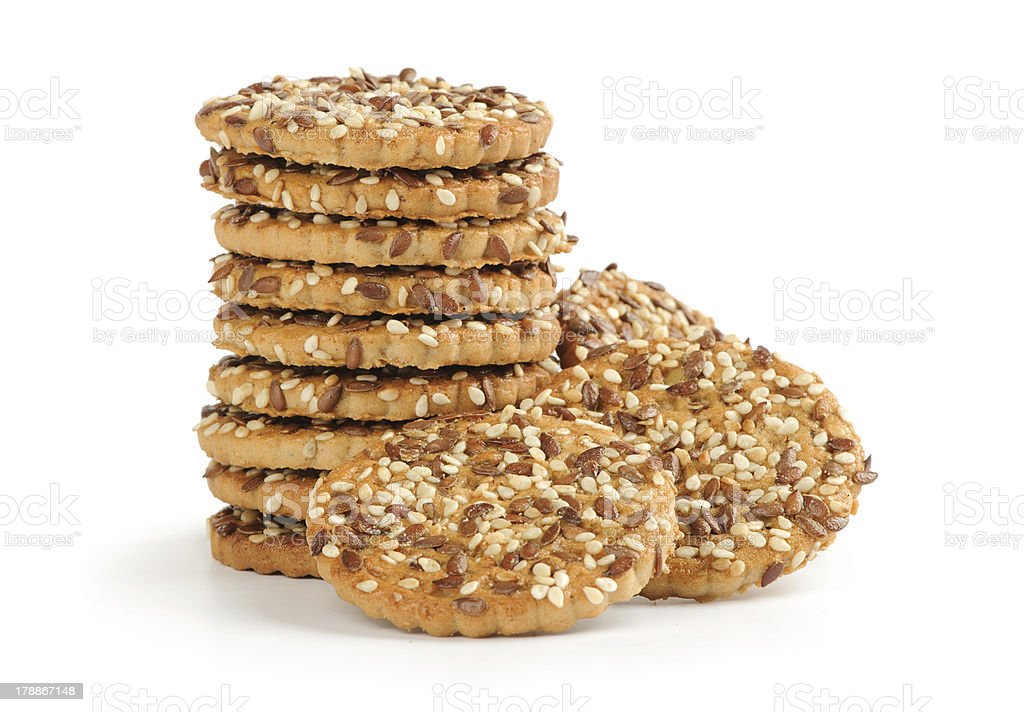 cookie with seeds isolated royalty-free stock photo