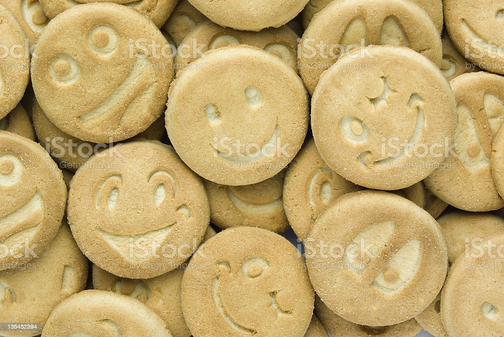 Cookies a smile royalty-free stock photo