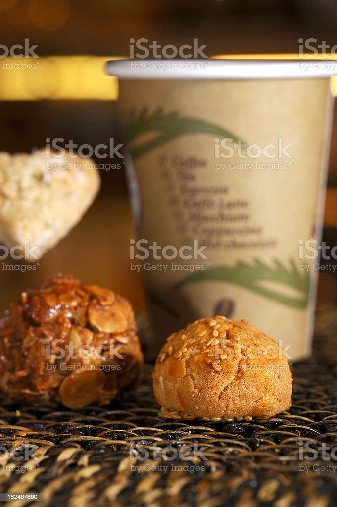 cookies and cafe royalty-free stock photo