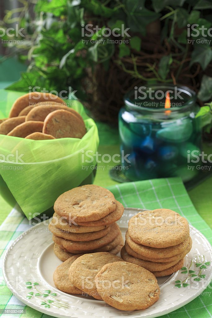 Cookies and Candle royalty-free stock photo