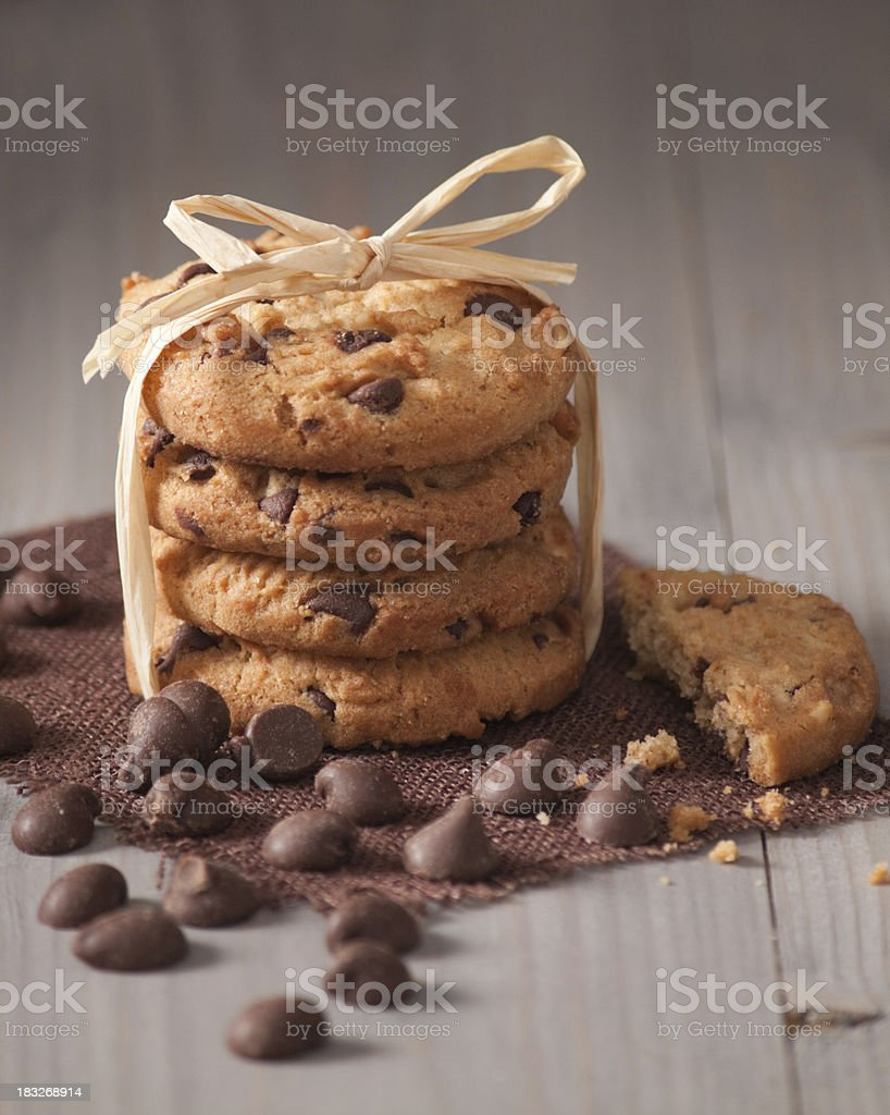 Cookies and Chocolate Chips royalty-free stock photo