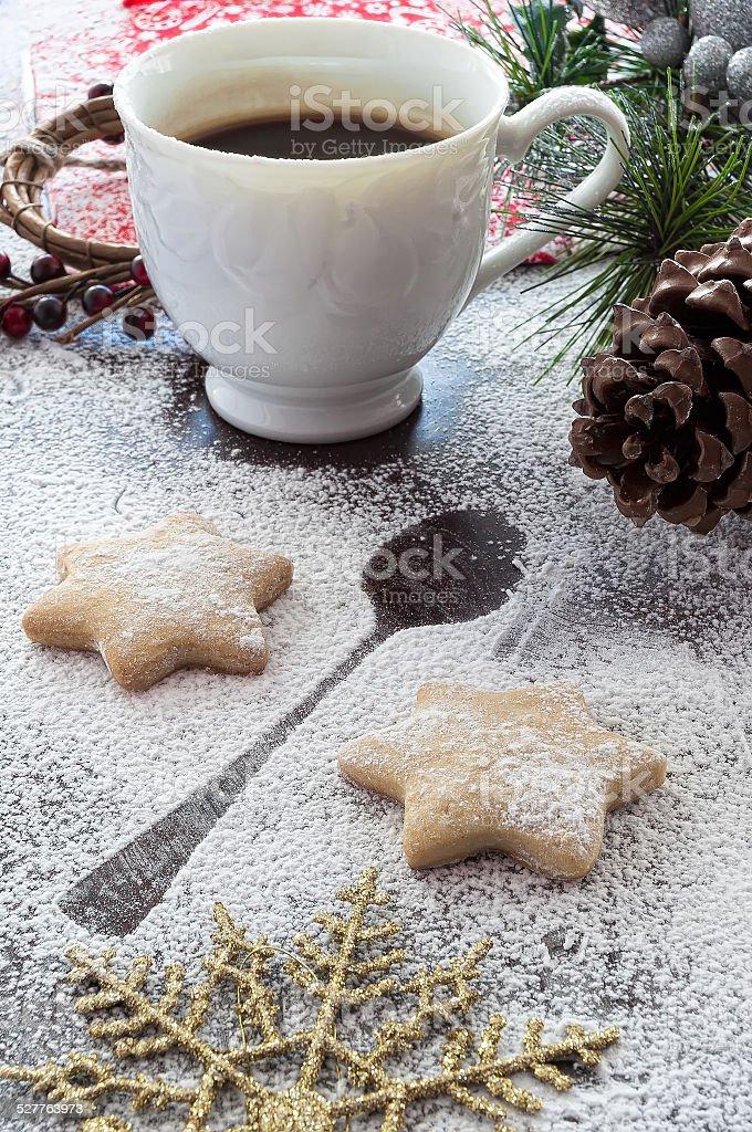 Cookies e café para Santa Claus foto royalty-free