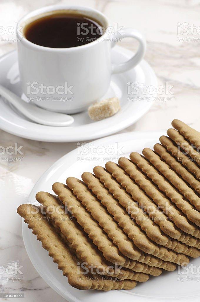 Las Cookies y café foto de stock libre de derechos